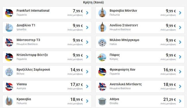 Προσφορές Ryanair 10/02/2020 από Κρήτη