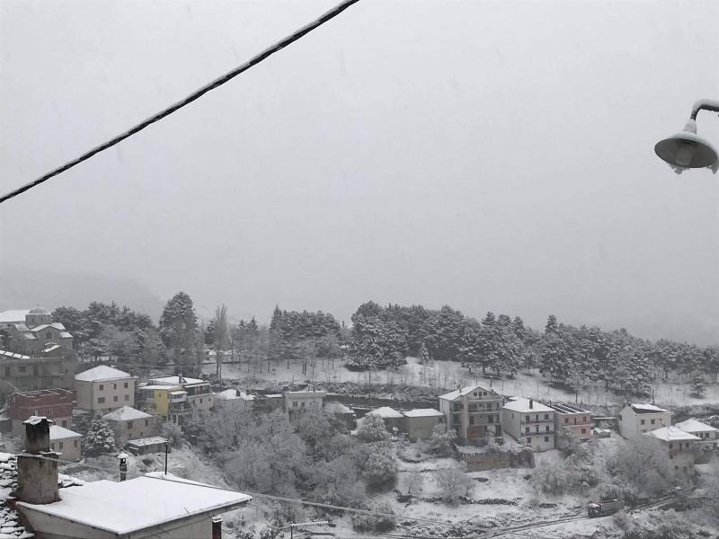 χιόνια ορεινά Λάρισας