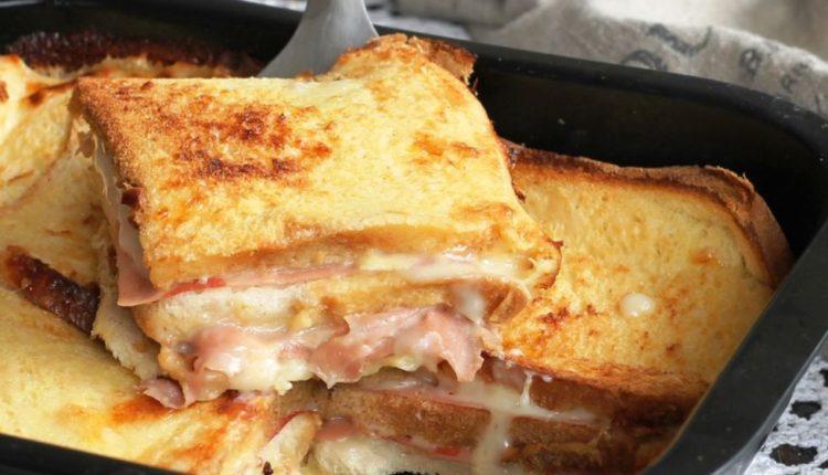 Αλμυρό Κεικ: Εύκολο και γρήγορο με ψωμί, τυρί και ζαμπόν