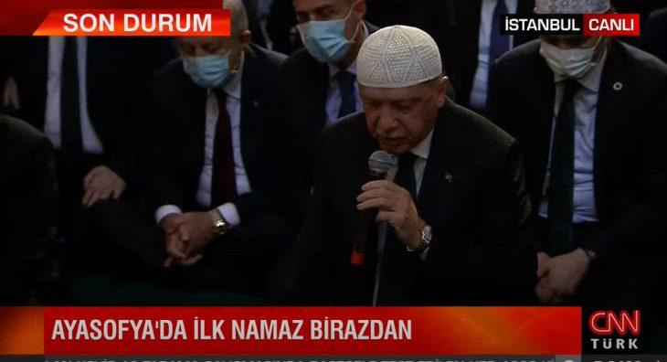 Αγιά Σοφιά: Η ιστορική στιγμή της βεβήλωσης από τον Ερντογάν σε βίντεο
