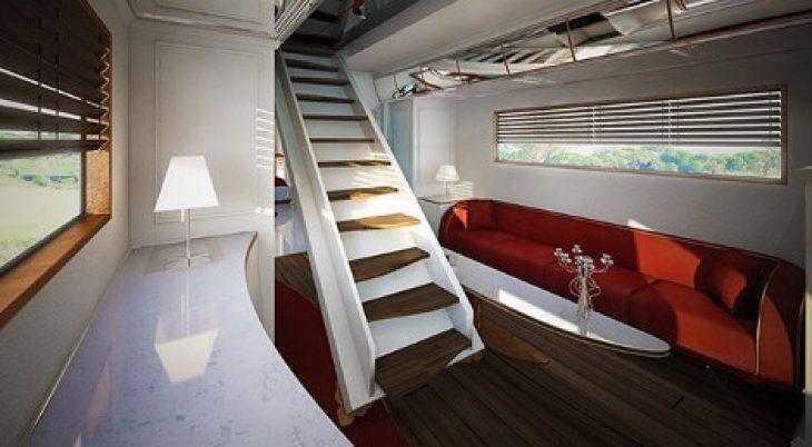 Τροχόσπιτο παλάτι: Έχει δωμάτια, τζάκι και μέσα θυμίζει κρουαζιερόπλοιο