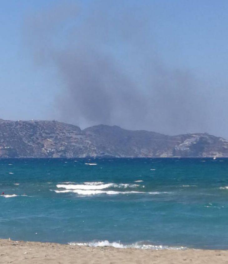 Φωτιά Ηράκλειο: Φωτιά στην Αγία Πελαγία κοντά σε σπίτια και ξενοδοχεία