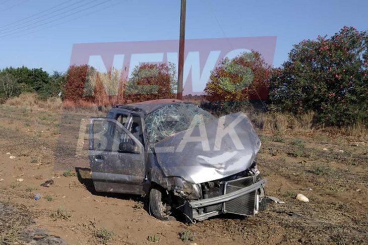 Πύργος τροχαίο: Το αμάξι  έκανε τρεις τούμπες - Σώθηκε από θαύμα