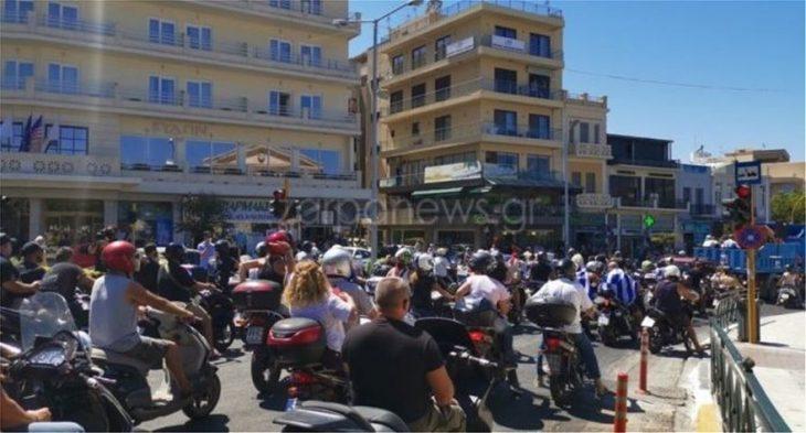 Χανιά πορεία: Μηχανοκίνητη πορεία στα Χανιά εναντίον των μέτρων – Δείτε βίντεο από την πορεία