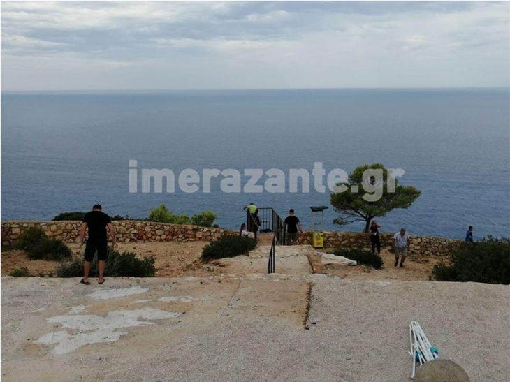 Ζάκυνθος Ναυάγιο: Φωτογραφίες της παραλίας μετά το πέρασμα του Ιανού