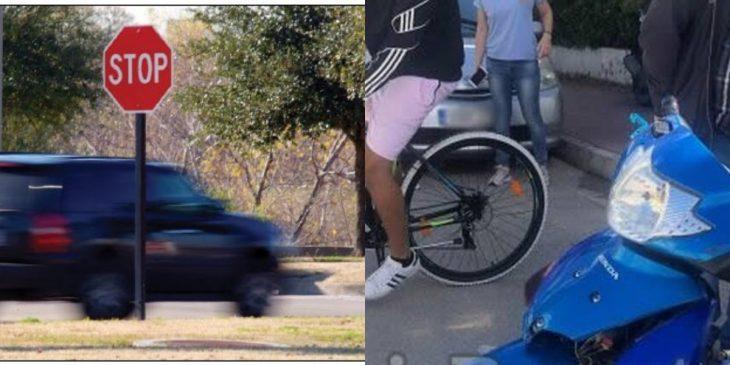 Λαμία τροχαίο: Εμβόλισε μηχανάκι αφού παραβίασε STOP