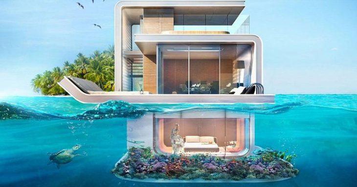 Πλωτή βίλα: Την μεταφέρεις όπου θες και έχει υποβρύχιες κρεβατοκάμαρες