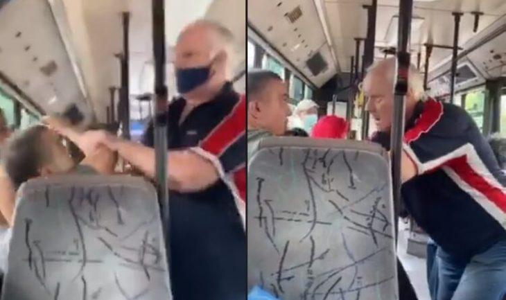 Αθήνα λεωφορείο: Αγριο ξύλο σε λεωφορείο μεταξύ νεαρού και ηλικιωμένου για μια μάσκα