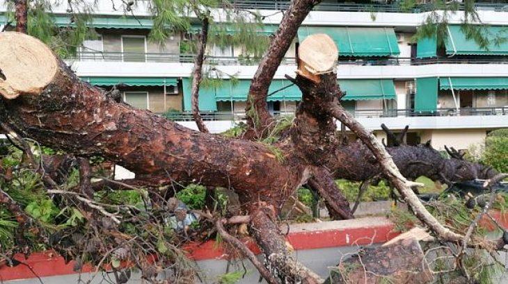 Νέο Ηράκλειο καταιγίδα: Τι κατέγραψε κάμερα τη στιγμή της καταιγίδας