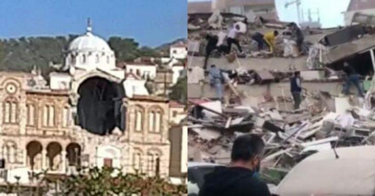 Σεισμός Σάμος: Κατέρρευσε εκκλησία και η θάλασσα βγήκε στη στεριά
