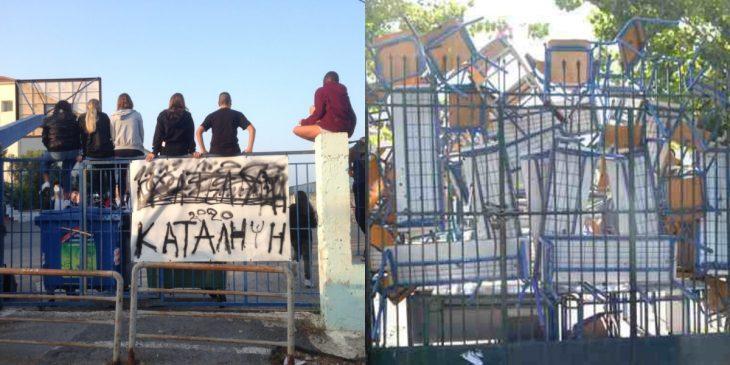 Θεσσαλονίκη κατάληψη: Οργισμένος γονιός έσπασε τη πόρτα του σχολείου
