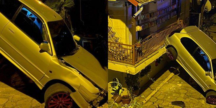 Βέροια σοκ: Αυτοκίνητο έπεσε σε αυλή σπιτιού
