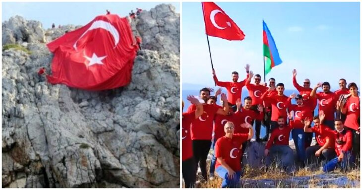 Ίμια: Τούρκοι ύψωσαν σημαία τους σε βραχονησίδα απέναντι από τα Ίμια