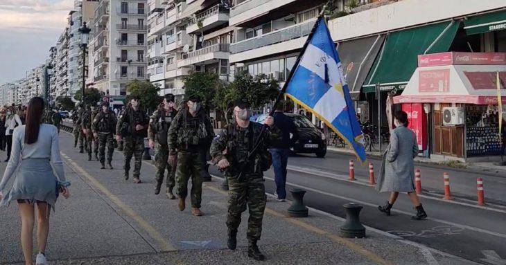 Θεσσαλονίκη: Έφεδροι περπάτησαν 26 χλμ. για να τιμήσουν την πόλη