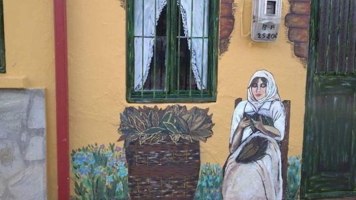 Χαλκιδική lockdown: Ζωγραφισμένοι τοίχοι σπάνε τη μαυρίλα του lockdown