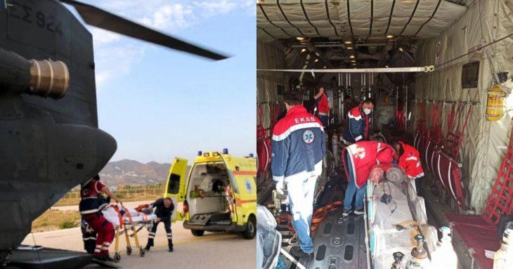 Αεροδιακομιδή ασθενών: Μεταφορά τριών ασθενών από τη Βόρεια Ελλάδα