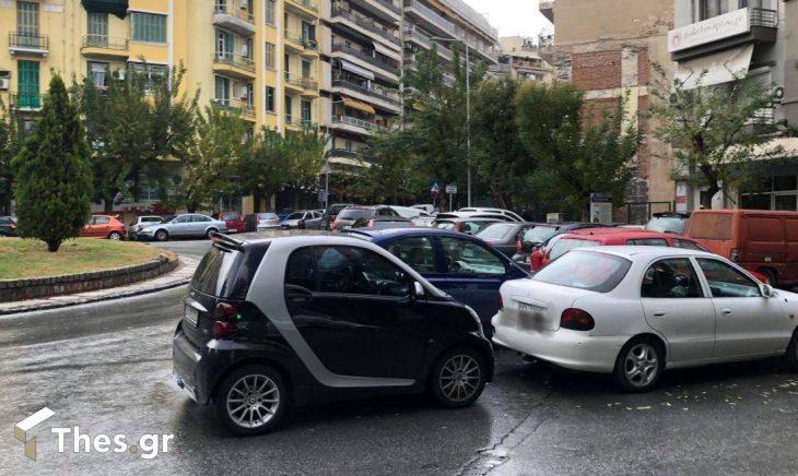 Θεσσαλονίκη κίνηση: Κίνηση και διπλοπαρκαρισμένα αυτοκίνητα