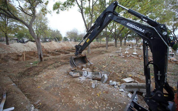 Τάφοι στη Θεσσαλονίκη: Σκάβουν τάφους για τα θύματα του κορονοϊού