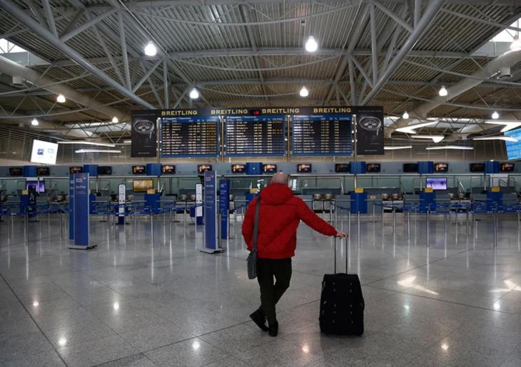 Ελληνικά αεροδρόμια: Πτώση 68,7% σημείωσε η αεροπορική κίνηση