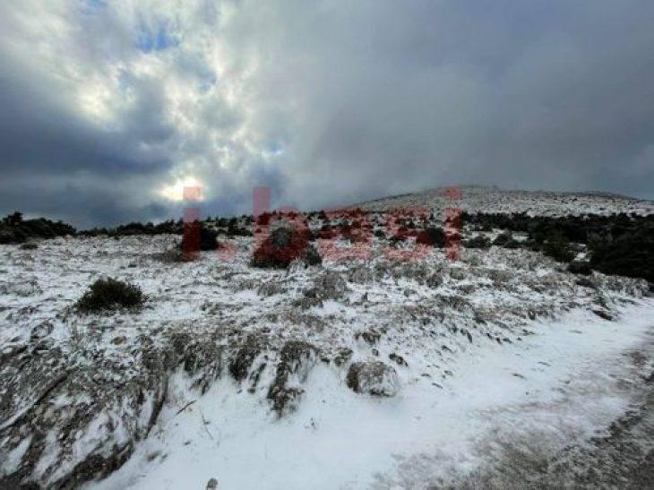 Πάρνηθα χιόνια: Έπεσαν τα πρώτα χιόνια στο βουνό - Δείτε βίντεο