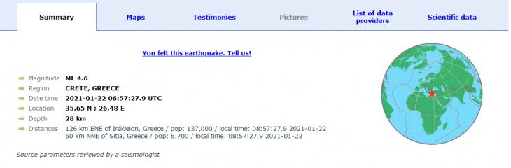 Κάσος σεισμός: Σεισμός 4,5 ρίχτερ ανοιχτά της Κάσου