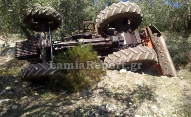 Αταλάντη τραγωδία: Δύο άτομα καταπλακώθηκαν από τρακτέρ