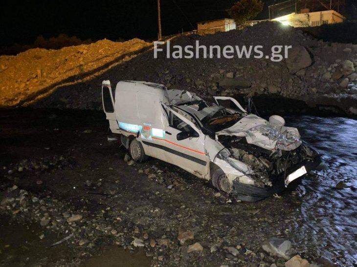 Χανιά τροχαίο: Αυτοκίνητο έπεσε από τη γέφυρα Ταυρωνίτη στα Χανιά