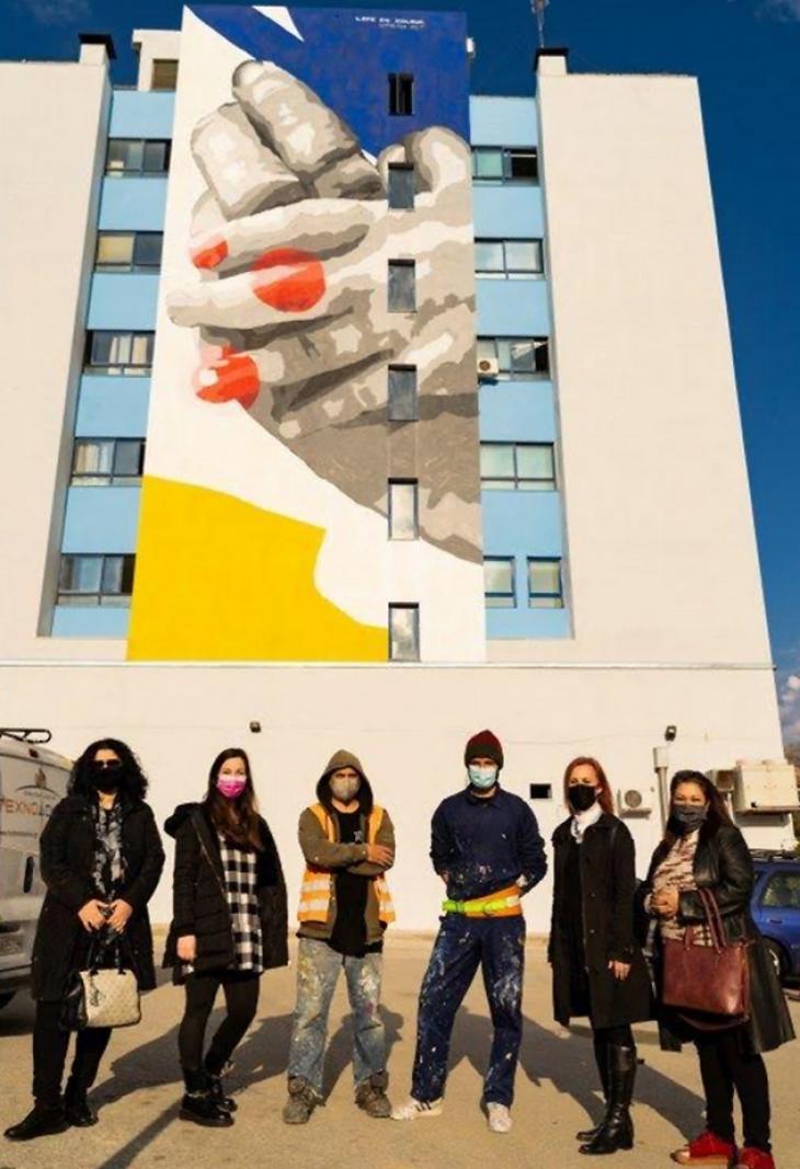 Ιπποκράτειο Θεσσαλονίκης: Γκράφιτι για τα νεανικά ρευματικά νοσήματα