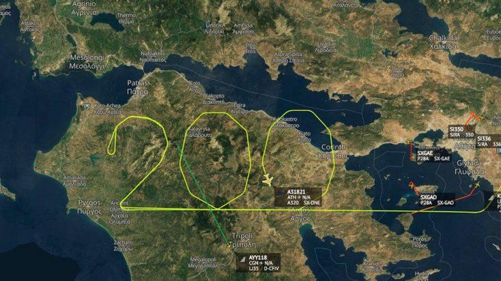 Aegean: Σχημάτισε τον αριθμό 200 πάνω από την Πελοπόννησο