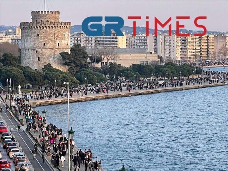 Θεσσαλονίκη σοκ: Απίστευτος συνωστισμός όλη τη μέρα στην πόλη