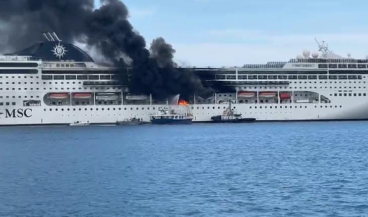 Κέρκυρα: Μεγάλη φωτιά σε κρουαζιερόπλοιο στο λιμάνι