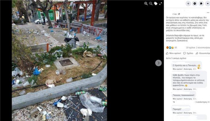 Πλατεία Βαρνάβα: Απίστευτες εικόνες συνωστισμού σε κορονοπάρτι