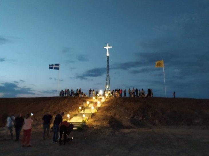Έβρος Χριστιανικός Σταυρός: Τοποθετήθηκε και είναι ορατός στην Τουρκία