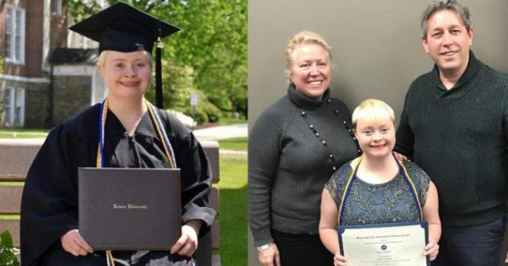 Σύνδρομο down: Περήφανοι γονείς για το πτυχίο της κόρης τους