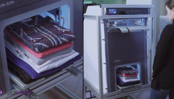 Συσκευή σιδερώματος: Σιδερώνει και διπλώνει μόνη της τα ρούχα μετά το πλυντήριο