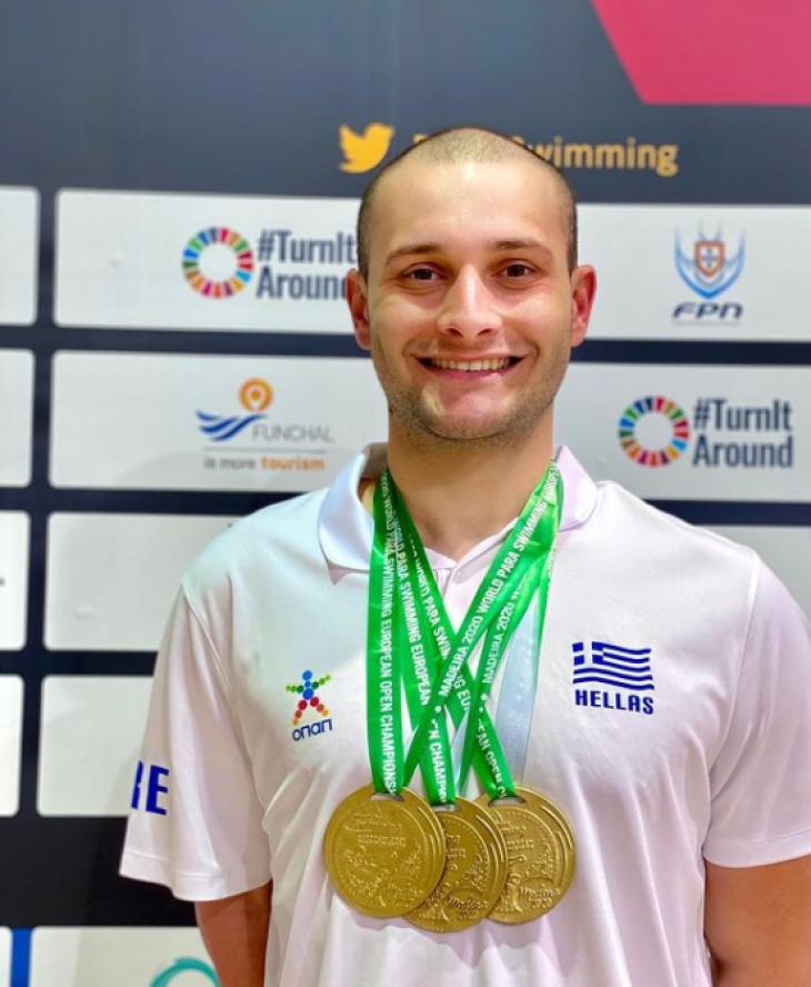 Δημοσθένης Μιχαλεντζάκης: Κατέκτησε 3 χρυσά μετάλλια στο Ευρωπαικό πρωτάθλημα κολύμβησης
