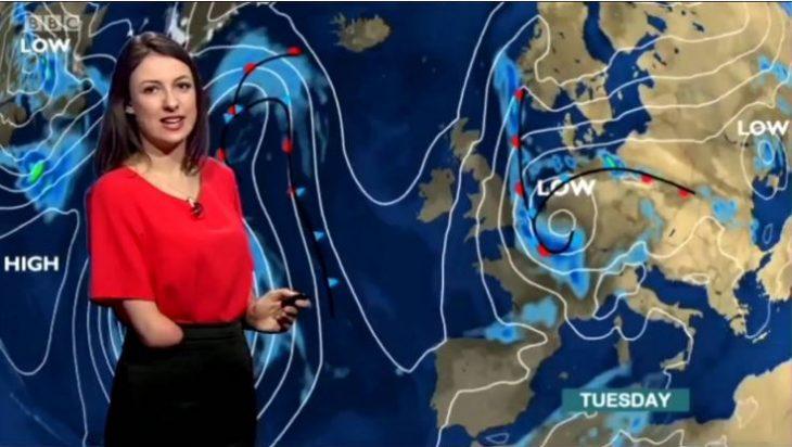 Παρουσιάστρια με αναπηρία: Η πρώτη που παρουσίασε δελτίο καιρού στο BBC