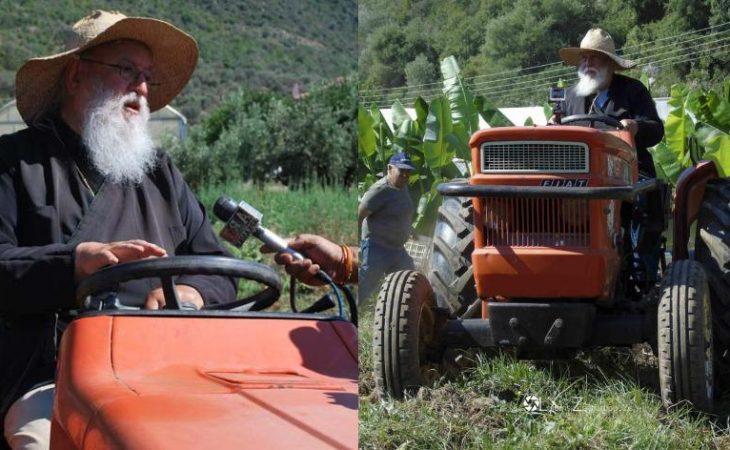 Μητροπολίτης καλλιεργεί λαχανικά και φρούτα και τα μοιράζει σε φτωχούς