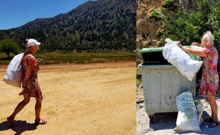 Ολλανδοί τουρίστες: «Έβαλαν τα γυαλιά» στους Κρητικούς για το μάζεμα των σκουπιδιών
