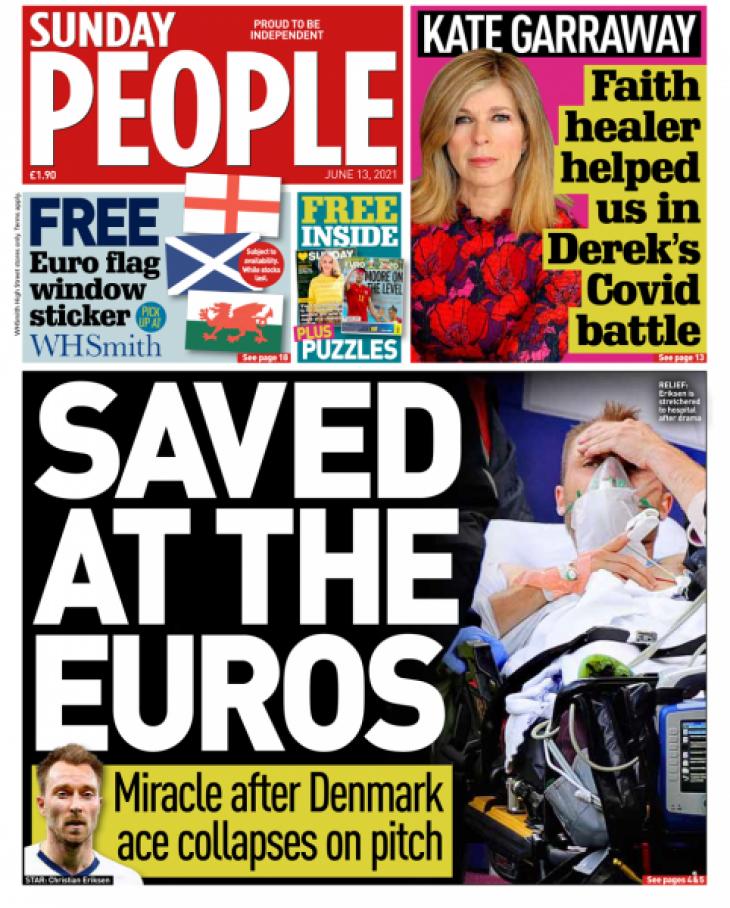 «Θαύμα ότι έζησε»: Τα πρωτοσέλιδα ευρωπαϊκών εφημερίδων για την κατάρρευση του Eriksen