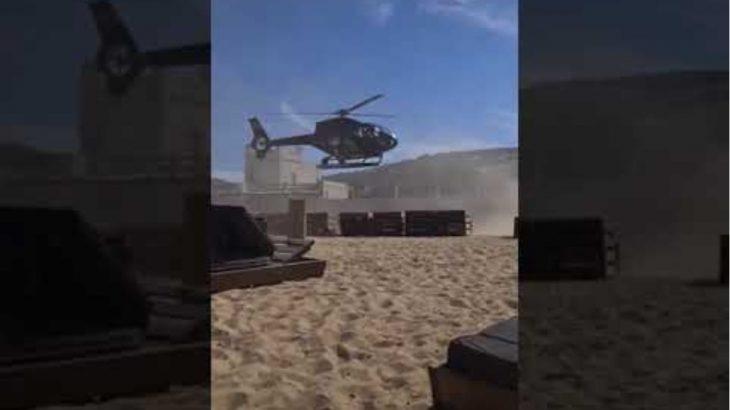 Μύκονος: Επιχειρηματίας προσγειώνεται με ελικόπτερο μέσα σε beach bar