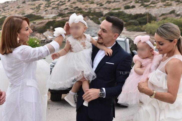 Πετρούνιας - Μιλλούση: Εικόνες από τη βάφτιση της κόρης τους