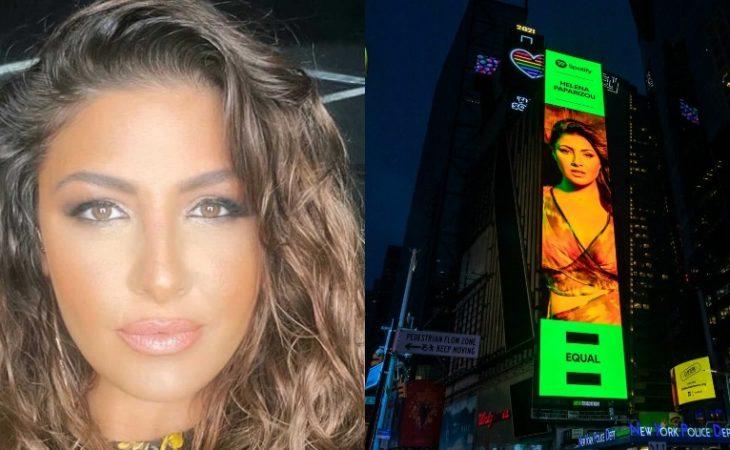 Έλενα Παπαρίζου: Έγινε τεράστια αφίσα στην Times Square της Νέας Υόρκης