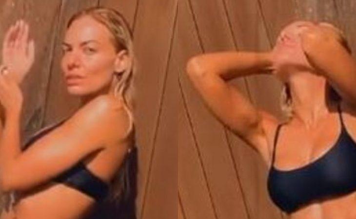 Ιωάννα Μαλέσκου: Χορεύει στο ντουζ με μαύρο μπικίνι