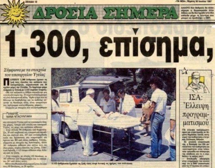 Καύσωνας: Θα θυμίσει μέρες 1987
