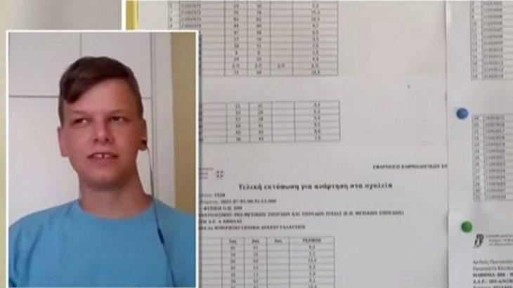 Δημήτρης Καρακώστας: Συγκίνησε ο αριστούχος μαθητής που έχασε τους γονείς του στη συνέντευξη του