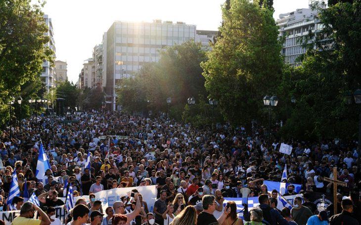 Συγκεντρώσεις κατά του εμβολιασμού: Χαμός από κόσμο σε όλη την Ελλάδα