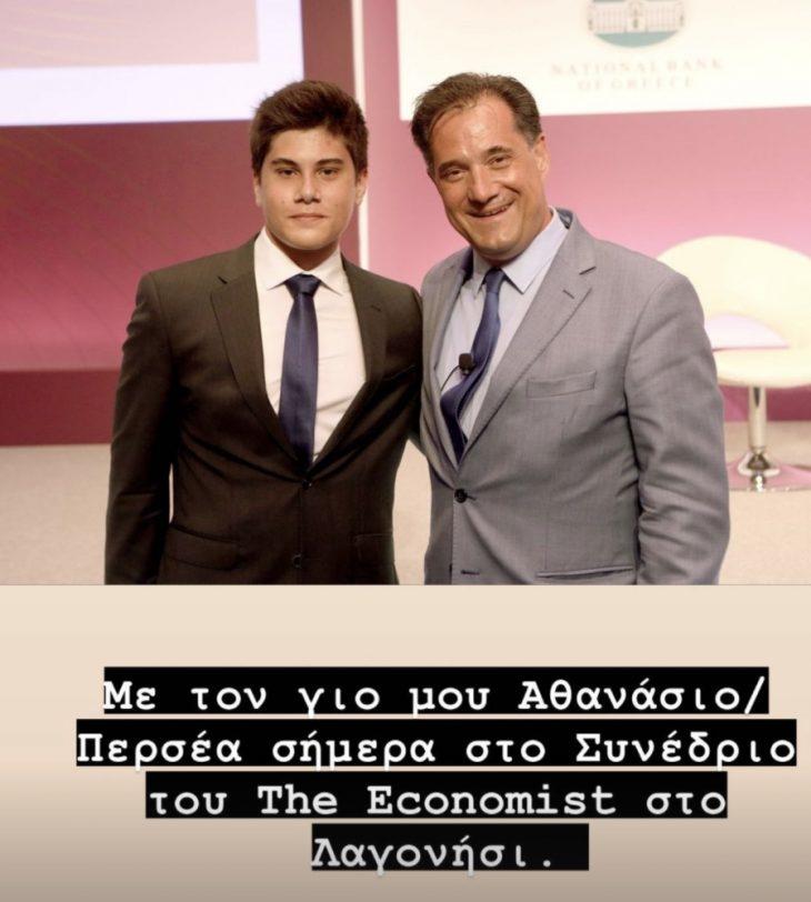 Άδωνις Γεωργιάδης: Μας συστήνει το γιο του για πρώτη φορά