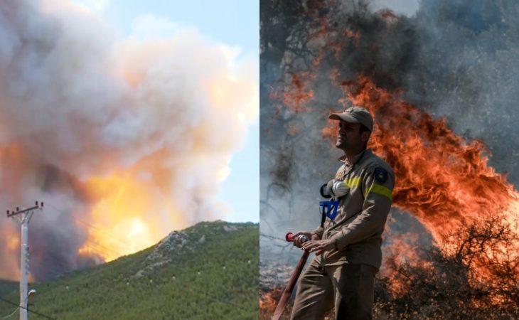 Φωτιά στα Βίλια: Βίντεο ντοκουμέντο από το πως ξεκίνησε η φωτιά