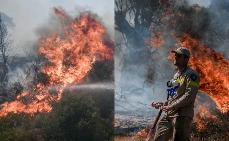 Νέα μεγάλη φωτιά: Εκκενώνονται Βίλια και Προφήτης Ηλίας